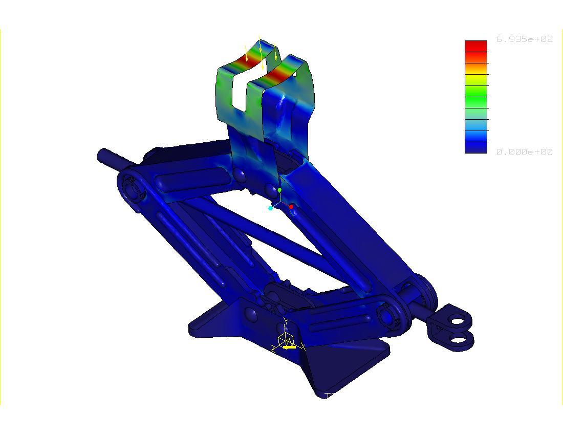 Design of car jack - Fea